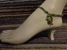 ankle bracelet beads anklet stretchy Legend of Zelda link enamel charm