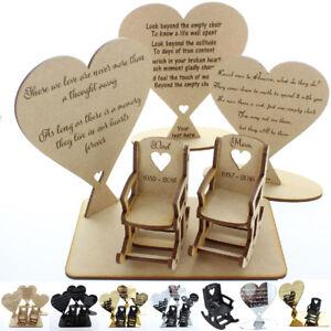 Personalised Memorial Gifts Loved ones in Heaven In Loving Memory Plaque Mum Dad
