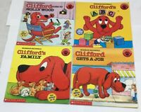Children's Book Lot of 4 Kids Clifford the Big Red Dog Hollywood Job ABC Family