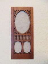 Dollhouse Miniature 1:12 Scale Mahogany Screen Door - Artist Made
