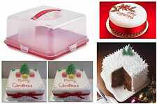 Christmas Cake Box Tub Clips Handle Storage Containers Carriers Airtight Lid