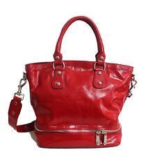 Jaeger Patent Leather Bag Red Shoulder Tote Handbag Ladies Designer