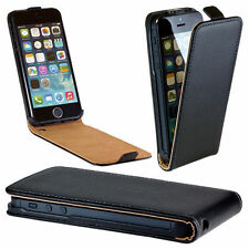 Luxury Genuine Real Leather Flip Case Cover for iphone 4, 5, 5c, 6, 7 and Plus