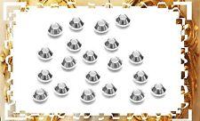 LOT DE 20 PERLES TOUPIES LISSE * 3,3 mm EN ARGENT MASSIF 925 *.Réf:DIVOL3