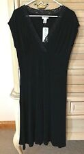 NWT Chico's Travelers  Lace V-Neck Solid Black Dress  Size 1 (8 10) MSRP $98