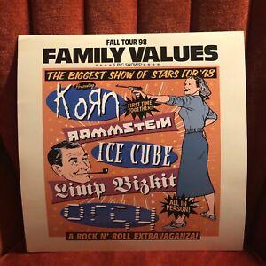 FAMILY VALUES TOUR 1998 12x12 Album Flat Promo Poster Limp Bizkit Korn Rammstein