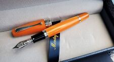 MONTEGRAPPA MIYA 450 ORANGE CELLULOID LTD EDITION FOUNTAIN PEN .   ..
