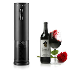 Electric Wine Bottle Opener Auto Cordless Corkscrew+Capsule Cutter & Wine Pourer