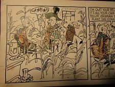 "1953 Original Daily Comic Strip Art 12/31 Farmers Farming 25x8.5"""