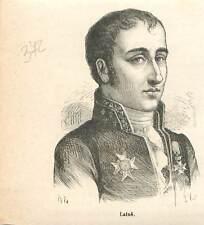 Joseph-Henri-Joachim vicomte Lainé 1768-1835 avocat député Paris GRAVURE 1883