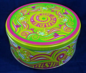 LUSH Happy Birthday Tin EMPTY Collectable Gift Packaging Duck Psychedelic Colour