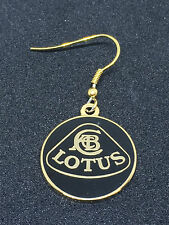 Lotus F1 cars automotive JPS black/gold earrings, 20mm, one pair