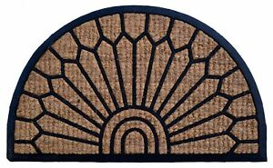Imports Decor Lily Brown & Blue Doormat