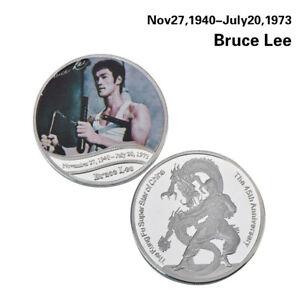 WR Bruce Lee Geben Sie die Dragon Silbermünze Medaille Kung Fu Kampfkünste