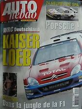 AUTO HEBDO 1403 / 30 JUIL 03 : AGS F1 RALLYE ALLEMAGNE 24 H SPA A. PIZZONIA