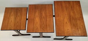 Mid-Century Modern Teak and Afrormosia Nest Tables by G-Plan, England