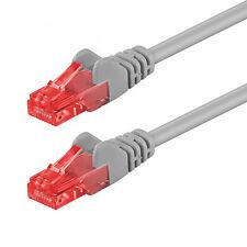 15m CAT6 Netzwerkkabel Patchkabel Ethernet Kabel Netzwerk LAN DSL Kabel grau