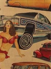Alexander Henry Pin Ups - 7648C Low and Slow Cotton Fabric FREE US SHIPPING