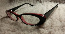 MENIZZI Rx Eyeglasses * M2048-01 * 47[]18 -132 * Black, Gray & Pink * Cat's Eye