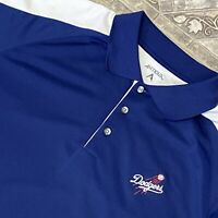 Antigua LA Dodgers XL Black Embroidered Polo Shirt Casual Baseball Golf Mens