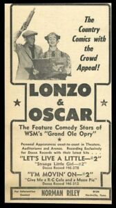 1951 Lonzo and Oscar photo Let's Live A Little vintage trade print ad