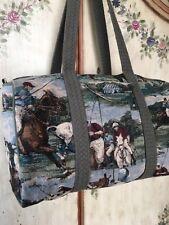 Vintage Polo Pony Bag Tote Equestrian Polo Grounds Manhattan Saddle Bag 🏇