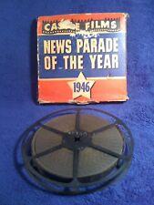 "Vintage 16 MM Castle Film "" 1946 NEWS PARADE OF THE YEAR "" Original Box & Reel"