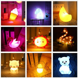 Silicone Portable Cute Little Sun Shape LED Night Light Decor Lamp for Child Kid
