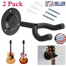 2pcs Guitar Hangers Wall Mount Stand Holder Rack Display Acoustic Electric Hooks