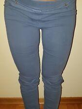 Pantalone donna taglia 40 blu jeans aderente leggings