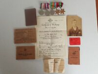 WWII Group of 5 Medal 2/14. AUSTRALIAN FIELD REG & Service History All Named