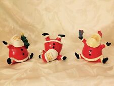 Whimsical Tumbling Santas Set/3-CLEARANCE/WAS $19.99