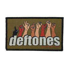 Deftones Sign Language Logo Patch Metal Rock Band Jacket Woven Sew On Applique