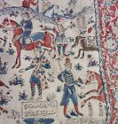 PRESERVED ANTIQUE  Otttoman Turkish Empire Tapestry Fabric Wall Hanging