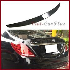 #197 Obsidian Black 14-16 On Benz W222 OE Look S400 S500 S550 S600 Trunk Spoiler