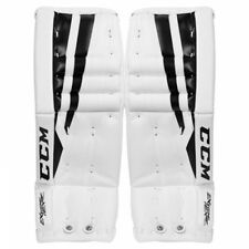 "New CCM Extreme Flex II 760 Ice Hockey Goalie leg pads Youth 22"" white black pad"