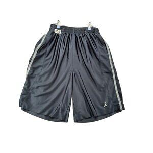 JORDAN  Men's Black/Silver Size 3XL Jogging/Running/Workout Shorts
