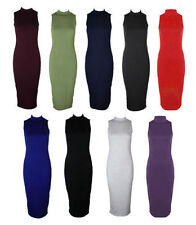 Unbranded Plus Size Calf Length Sleeveless Dresses for Women