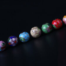 20/50Pcs Cloisonne Enamel Round Spacer Loose Bead Jewelry Making DIY 6/8mm