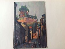 Vintage Postcard Rue Sous Le Fort Street Quebec Canada Painting Style Historic