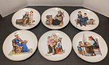 New ListingLot of 6 Norman Rockwell 1984 Miniature Porcelain Collector Plates