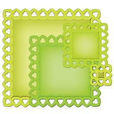 Spellbinders Nestabilities Leafy Squares 4 Dies