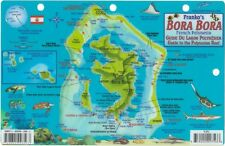 Bora Bora Dive Map & Reef Creatures Guide Laminated Fish Card by Franko Maps