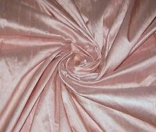 BABY PINK 100% DUPIONI SILK FABRIC WHOLESALE BOLT ROLL 32 YARDS