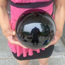 22LB Natural Black Obsidian Sphere Large Crystal Ball Healing Stones