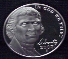 2007-S Jefferson Nickel - Beautiful Cameo Proof Coin! Overstock!