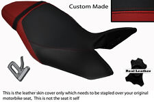 DARK RED & BLACK CUSTOM FITS TRIUMPH SPEED TRIPLE 1050 11-13 LEATHER SEAT COVER