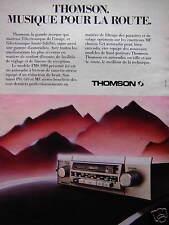 PUBLICITÉ THOMSON AUTO RADIO À LECTEUR DE CASSETTE STÉRÉO MUSIQUE POUR LA ROUTE