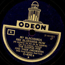 """THE GOOFUS FIVE & ORCH. My Blackbirds are Bluebirds now """"Golden 20's"""" 78' S1855"""