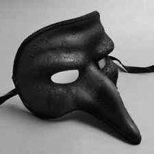 New Black Glittering Venetian Long Nose Bird Men Party Masquerade Mask Costume